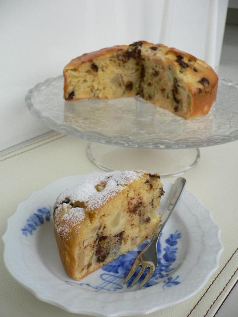 plum cake pere e cioccolato.JPG